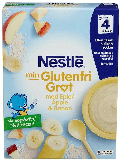 Nestlé Min Glutenfri Grøt Eple & Banan Fra 4 mnd, 240 g