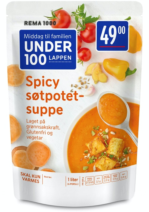 REMA 1000 Spicy Søtpotetsuppe 1 l