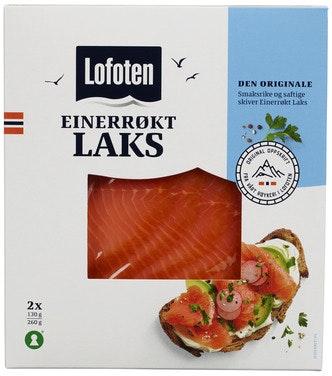Lofoten Einerrøkt Laks Skivet 260 g