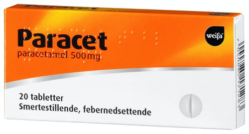 Weifa Paracet Tablett 500mg, 20 stk