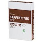 Kaffefilter hvite