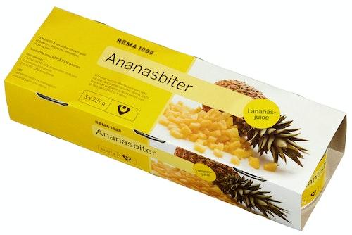 REMA 1000 Ananas i Biter 3pk, 681 g