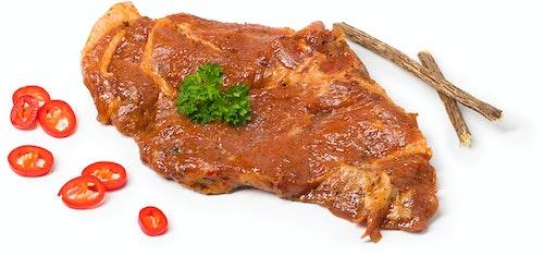 Strøm-Larsen Svinenakke Marinert med Lakrisrot & Chili 400 g