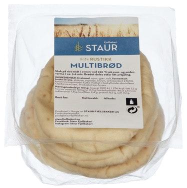 Staur Fjellbakeri Multibrød fine 4 stk, 320 g