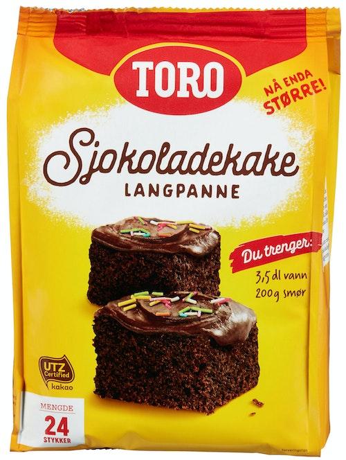 Toro Sjokoladekake Langpanne, 854 g