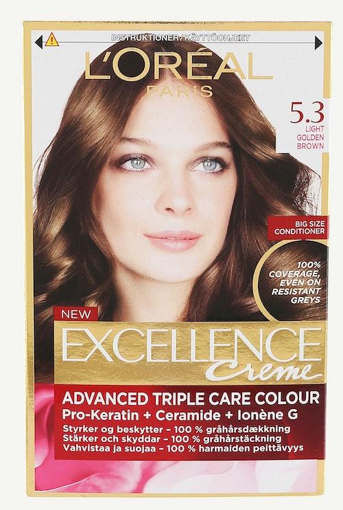 L'Oreal Excellence 5,3 Lys Gyldenbrun 1 stk
