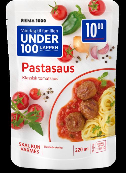 REMA 1000 Pastasaus Classic Tomatsaus til Kjøttboller, Pasta eller Fisk, 220 ml