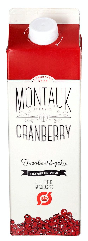 Montauk Cranberry Tranebærjuice, 1 l
