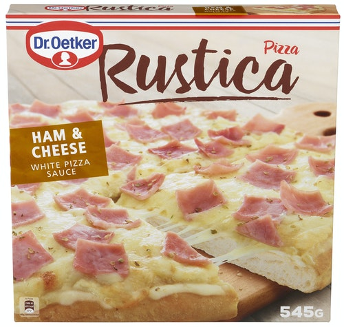 Dr. Oetker Rustica Pizza Ham & Cheese, 545 g