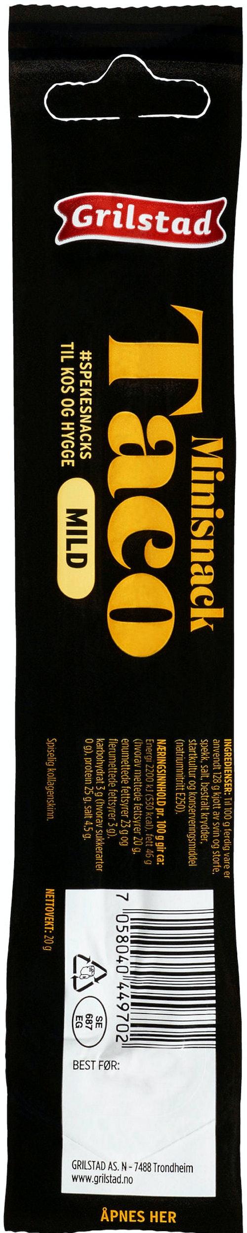 Grilstad Taco Snack Mini 20 g