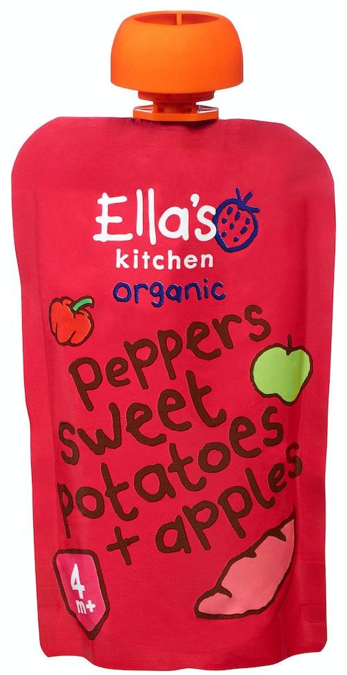 Ella's Kitchen Paprika Søtpotet + Eple Fra 4 mnd, 120 g