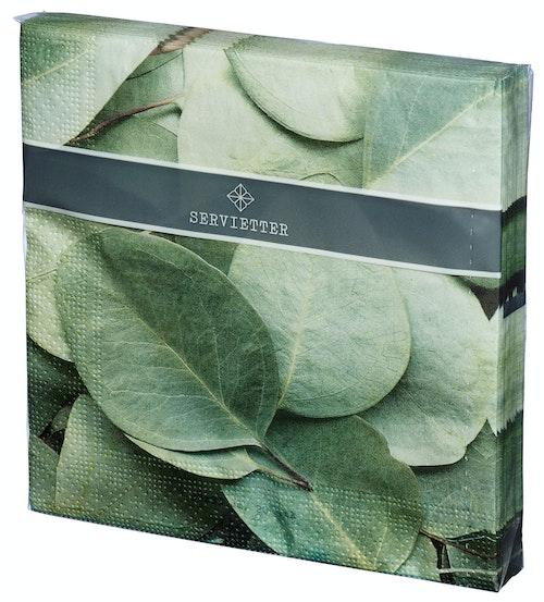 REMA 1000 Servietter med Grønne Blader 2 33 x 33cm, 20 stk