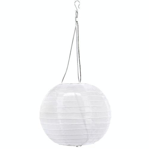 Clas Ohlson Risball med solcelle Hvit,  20 cm, 1 stk