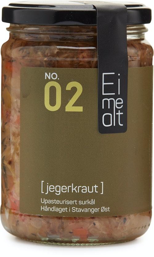 Eimealt Jegerkraut Upasteurisert Surkål, 390 ml