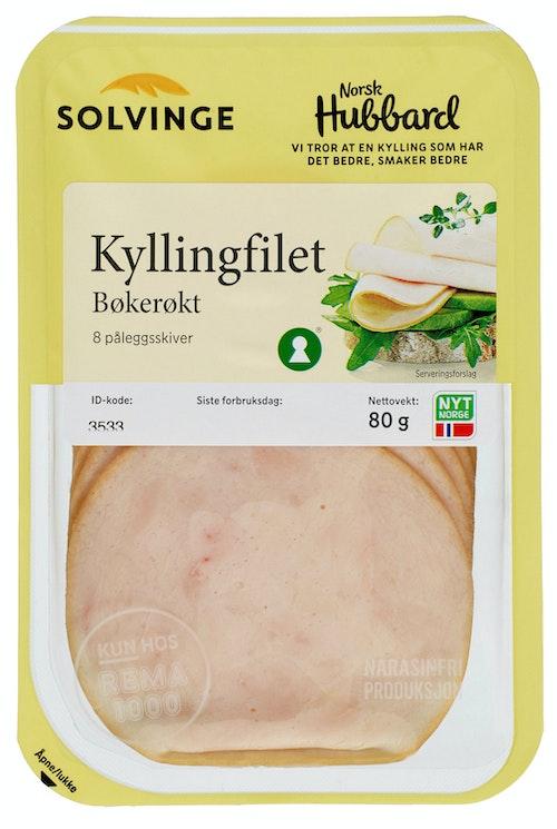 Solvinge Kyllingfilet Røkt Bøkeflis 80 g