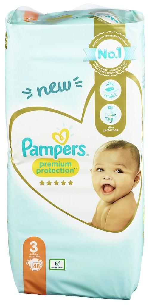 Pampers Bleie Premium Protection Str.3, 6-10kg, 48 stk
