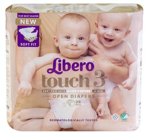 Libero Libero Touch Tapebleie, Str.3 4-8kg, 28 stk