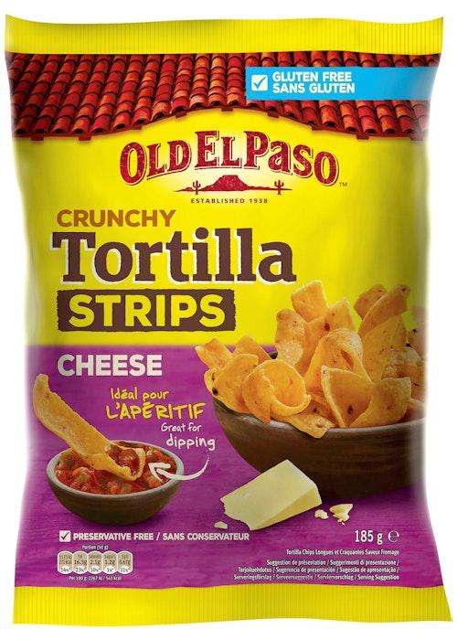 Old El Paso Tortilla Strips Cheese 185 g