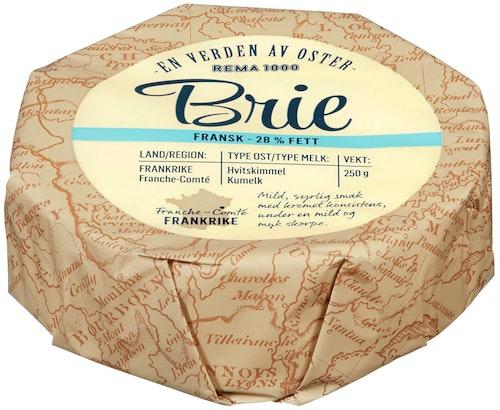 REMA 1000 Fransk Brie 28% Fett, 250 g