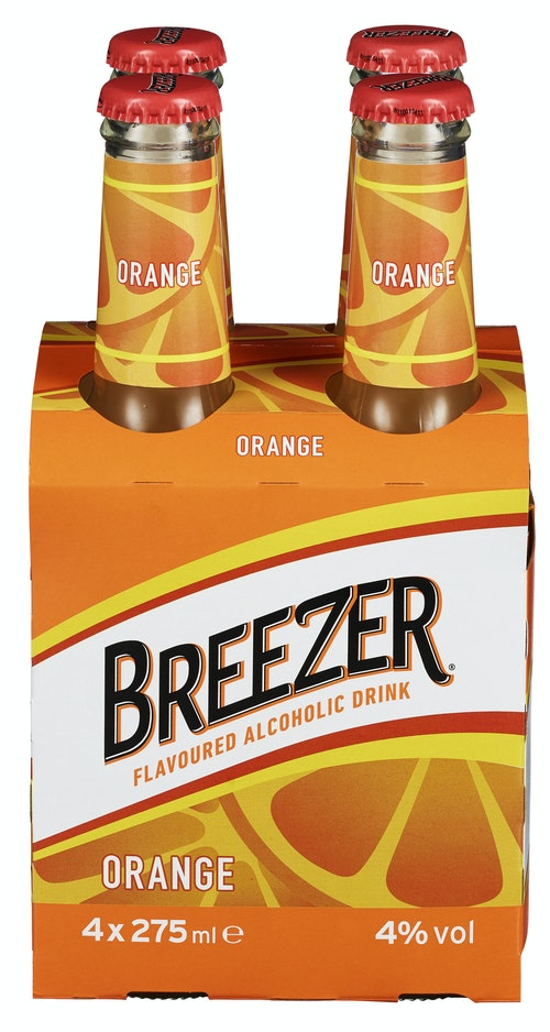 Bacardi Bacardi Breezer Orange 4 x 0,275l, 1,1 l