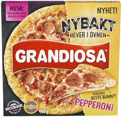Grandiosa Grandiosa Nybakt Pepperoni Pizza 480 g
