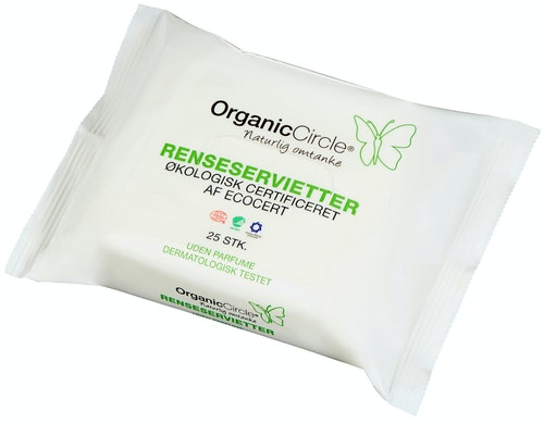 Organic Circle Renseservietter 25 stk