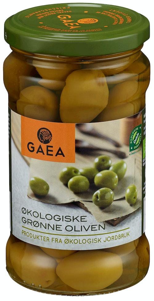 Gaea Grønne Oliven Økologisk, 300 g