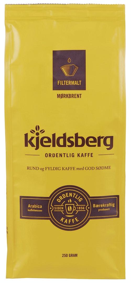Kjeldsberg Kaffebrenneri Kaffe Filtermalt Mørkbrent 250 g