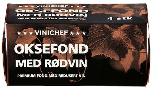 ViniChef Oksefond Med Rødvin 4 stk