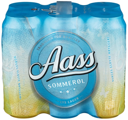 Aass Bryggeri Aass Sommerøl 6 x 0,5l, 3 l