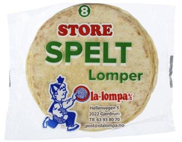 Ola Lompa Store Spelt Lomper 8 stk