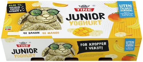 Tine Junior Yoghurt Frukt Uten tilsatt sukker eller søtstoff 8x125g, 1000 g