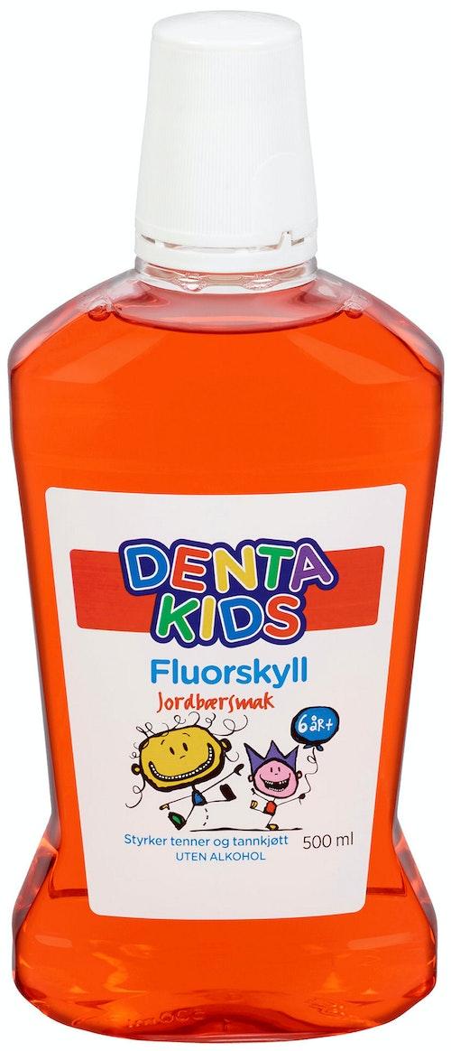 Denta Kids Fluorskyll Jordbærsmak 500 ml