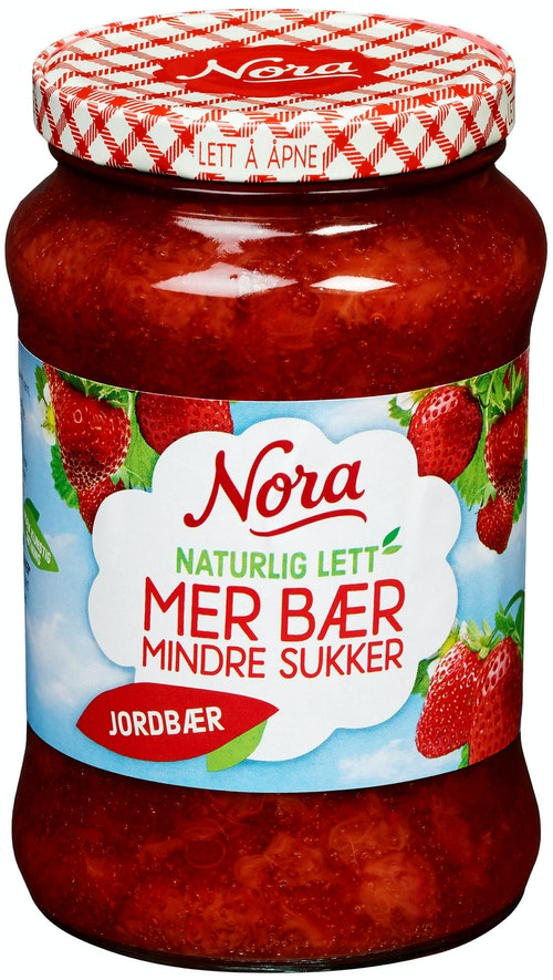 Nora Jordbærsyltetøy Lett, 535 g