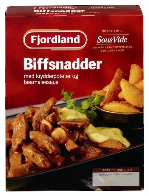 Fjordland Biffsnadder med Krydderpoteter & Bearnaisesaus 490 g