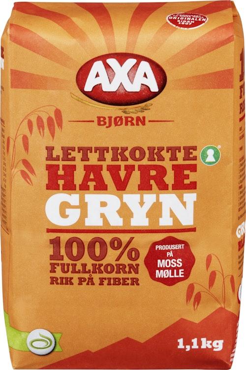 AXA Bjørn Havregryn Lettkokte, Original, 1,1 kg