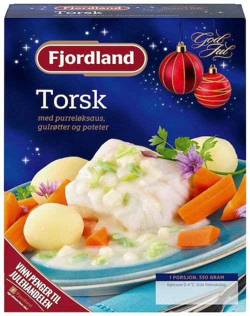 Fjordland Torsk i Purreløksaus med Gulrøtter og Poteter 550 g