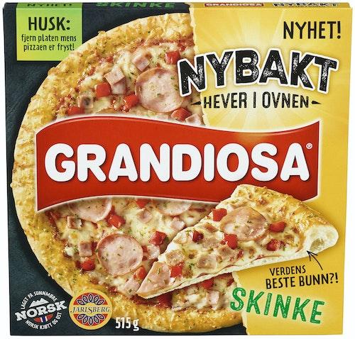 Grandiosa Grandiosa Nybakt Skinke Pizza 515 g