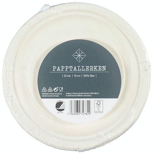 REMA 1000 Papptallerken 18 cm, 25 stk