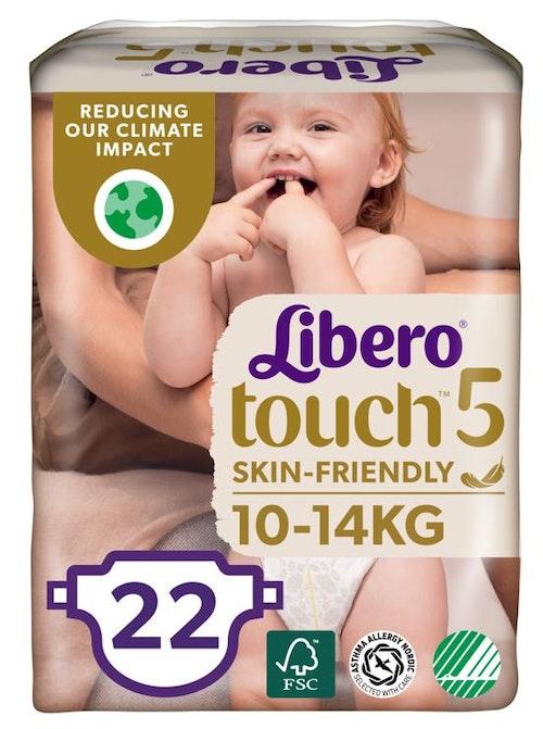 Libero Libero Touch Tapebleie, Str.5 10-14kg, 22 stk