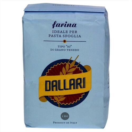Dallari Pizza- og pastamel Tipo-00, 1 kg