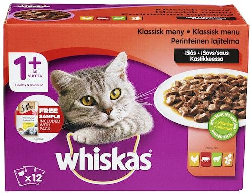 Whiskas Kjøttmeny i Saus 12x100g, 1,2 kg