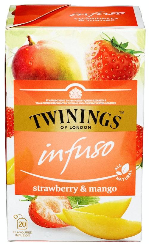Twinings Strawberry & Mango-te Infuso, 20 stk