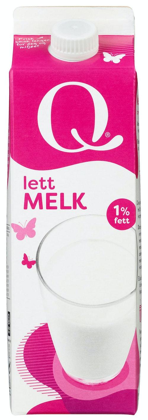 Q-meieriene Q Melk Lett 1%, 1 l
