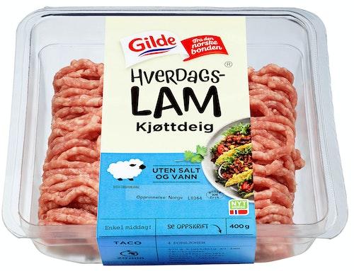 Gilde Hverdagslam Kjøttdeig uten Salt og Vann 400 g