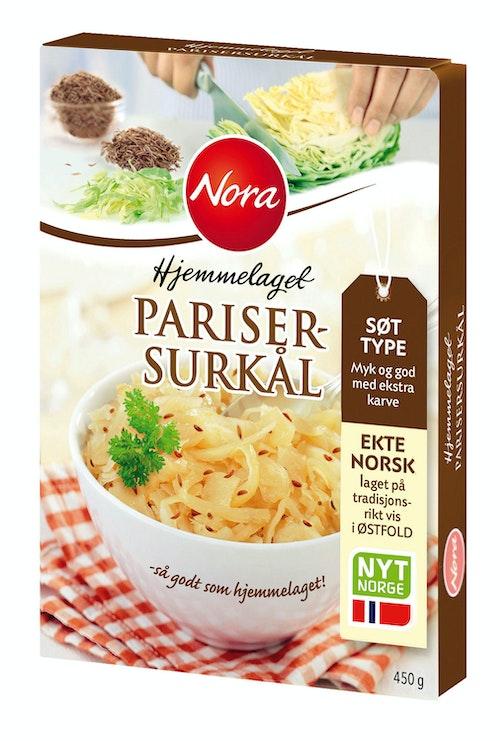 Nora Parisersurkål Hjemmelaget 450 g