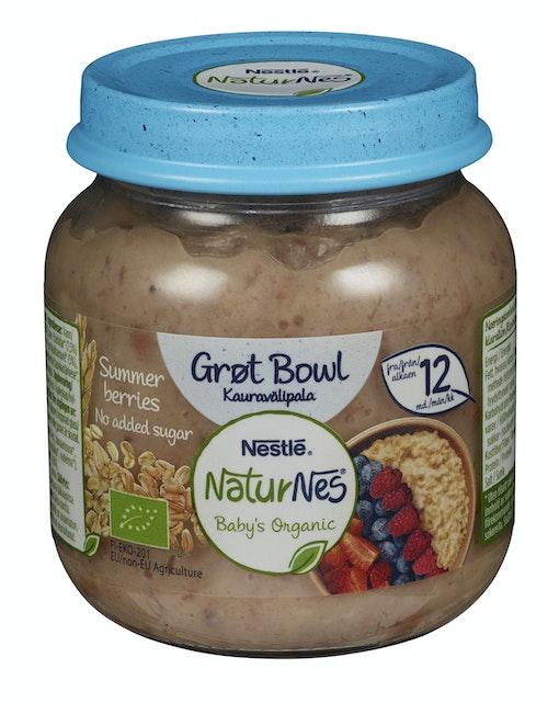 Nestlé Naturnes Grøt Bowl Summer Berries Fra 12 mnd, 125 g