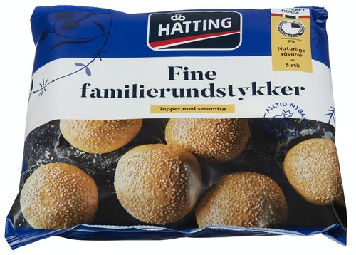Hatting Fine Familierundstykker 6 stk, 480 g