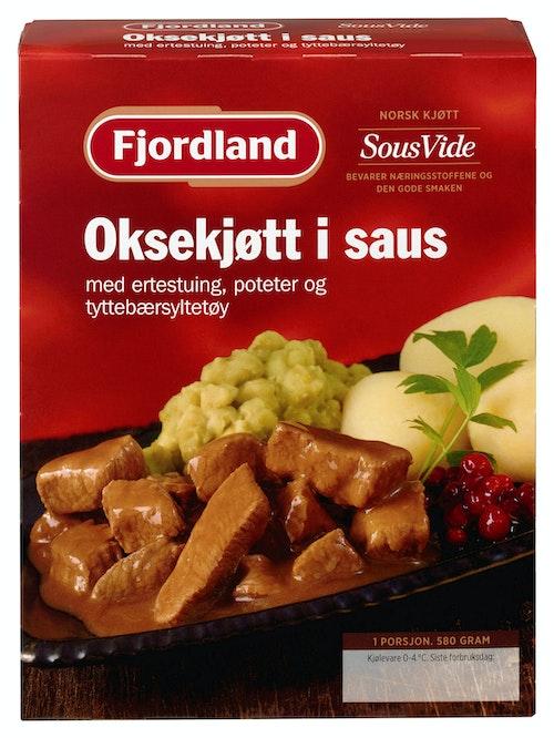 Fjordland Oksekjøtt i Saus 580 g
