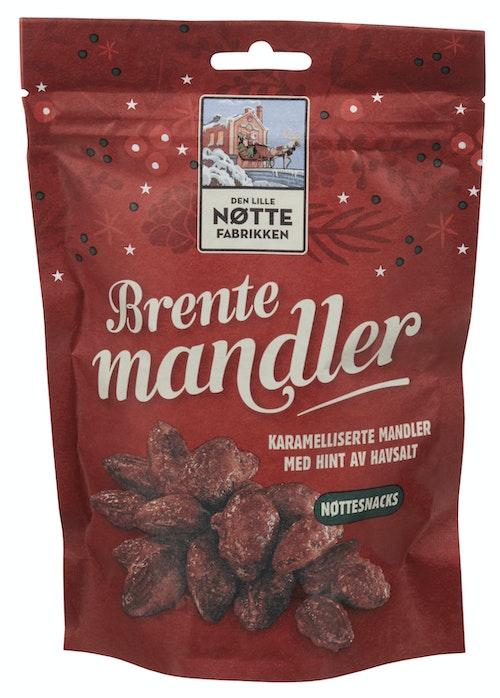 Den Lille Nøttefabrikken Brente Mandler 160 g